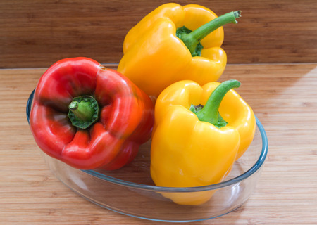 sweet peppers: sweet peppers in  the  dish.