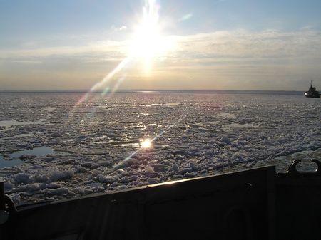 The winter sun
