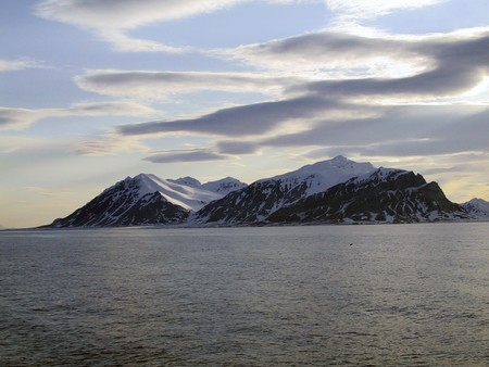 nature, water, sea, winter, mountain, snow, island,