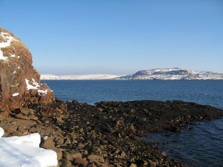 rocky, water, nature, river, beach, blue, rock,
