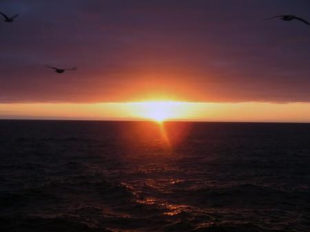 sunset, sun, water, nature, sky, sunrise, Stock Photo