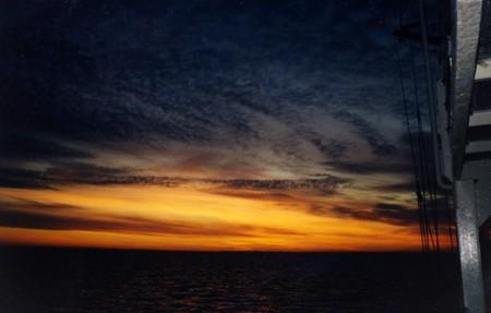 sunset, sun, water, nature, sky, sunrise
