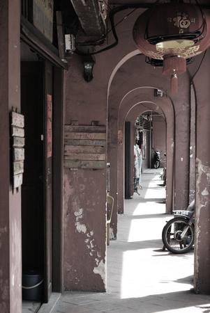 ancient shop corridor