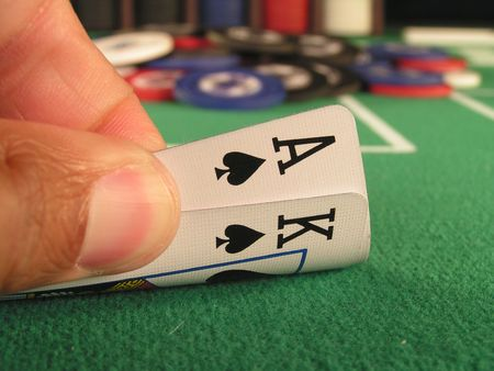 big slick: big slick, ace and king of spades as a hold�em poker starting hand.