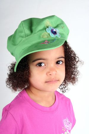 close up of a young toddle girls brown eyes