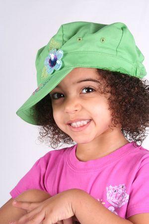 ojos marrones: Cerca de un joven toddle ni�as ojos marrones