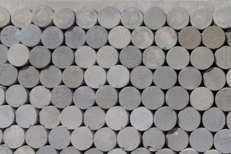 hormig�n: Muestras cil�ndricas de hormig�n para las pruebas de mezclas de concreto