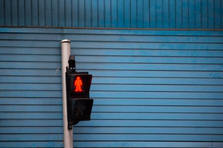 Pedestrian Signal, red signal for walker
