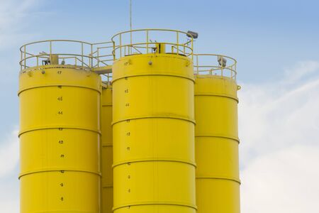 yellow steel container.