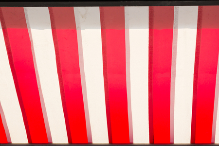 red and white striped awning background