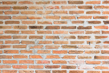 old red brick wall, vintage decoration wall Stock Photo