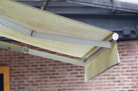 light yellow awning