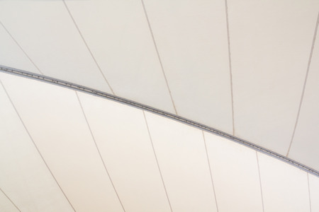 White awning canvas roof, white fabric tensile roof background 写真素材