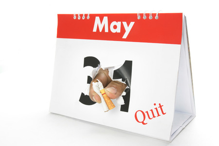 quit: 31 May quit smoke Stock Photo
