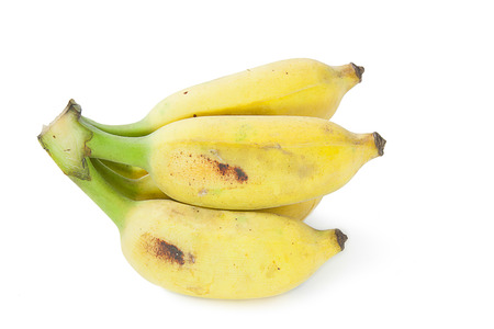 cultivated: cultivated banana isolated on white