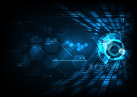 hi speed: Blue abstract hi speed internet technology background illustration. eye scan virus computer