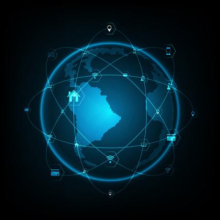 概念シリーズからグローバル ビジネスの最高のインターネットの概念  イラスト・ベクター素材