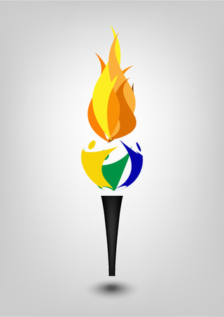 Torch vector icon isolated on white