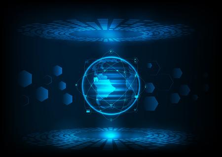 ベクトル デジタル技術の概念、抽象的な背景。