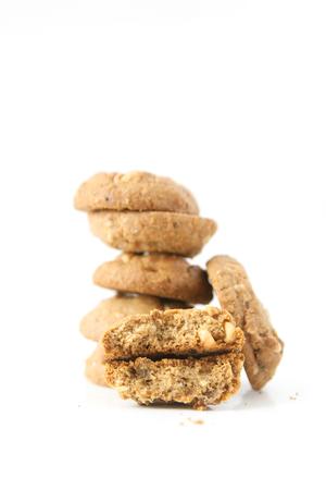 brocken: cookie on white