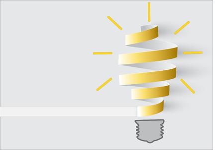 Inspiration concept roll paper light bulb metaphor for good idea.
