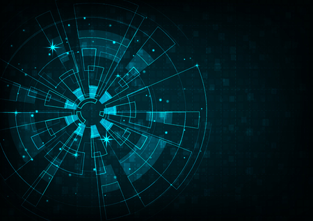 vector background abstract technology communication concept Illustration