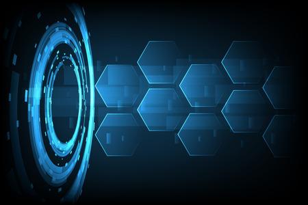 Abstract Technology hexagon background vector illustration