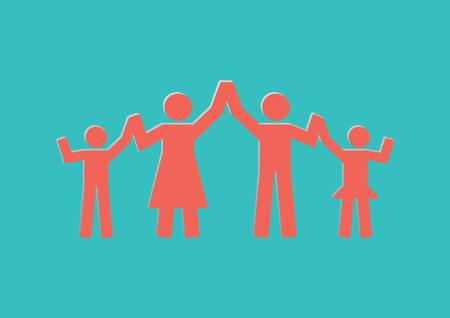 Family Icon.Concept happy family Illustration