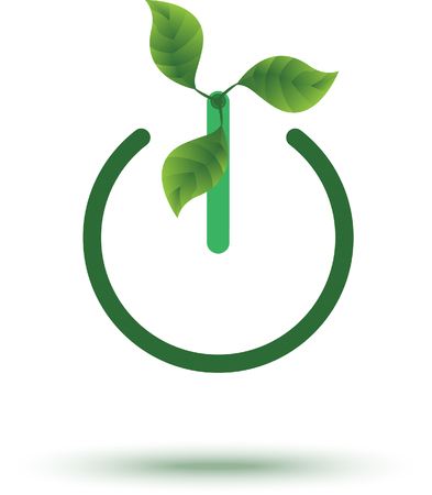 A green energy icon vector illustration for the green power environmental concept.