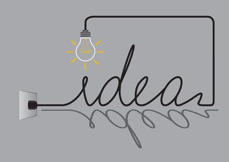 Creative light bulb idea abstract, Inspiration concept design .