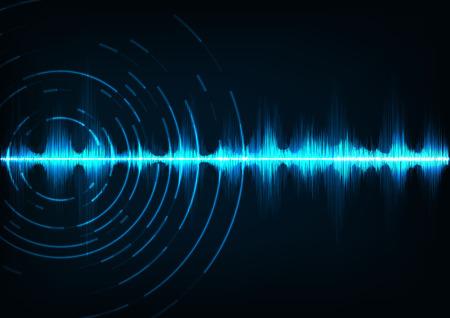 Abstract digital sound wave background. Illustration