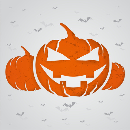 Halloween concept with paper cut into shape Illustration