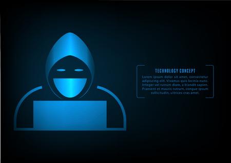 Hacker icon Illustration