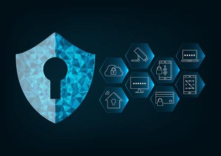 사이버 보안 개념 일러스트