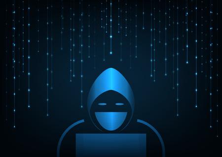 Internet crime concept