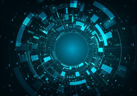 Abstract futuristic digital technology background. Vector illustration. Illustration
