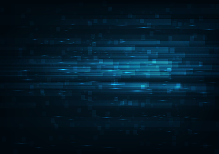 High speed internet. Hi-tech. Abstract technology background concept.Speed movement pattern and motion blur over dark blue background.