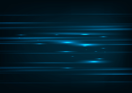 High speed. Hi-tech. Abstract technology background concept.Speed movement pattern and motion blur over dark blue background. Illustration