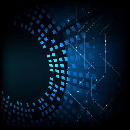 Abstract futuristic digital technology background. Illustration Vector. Illustration