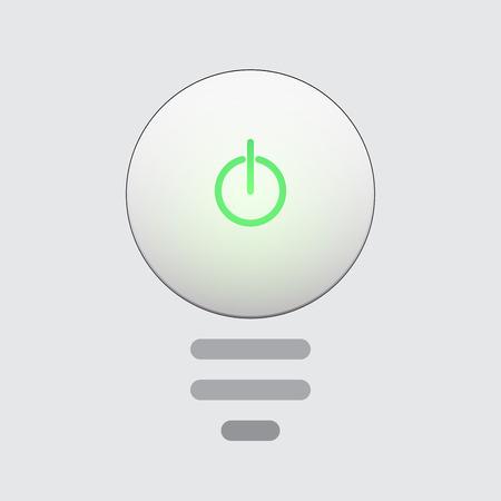 Light bulb  idea icon button.Creative concept.  Illustration