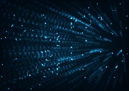 Abstract internet hi speed technology concept. with big data light and stripes motion blur moving fast over dark background.