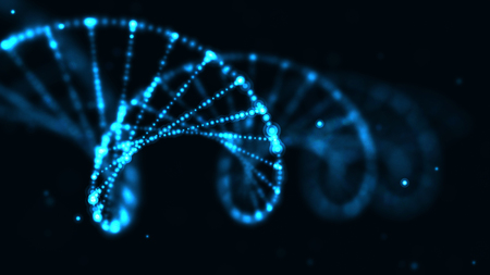 abstract technology science concept, DNA code structure with glow. Science concept background. Nano technology. Stock Photo - 110518227