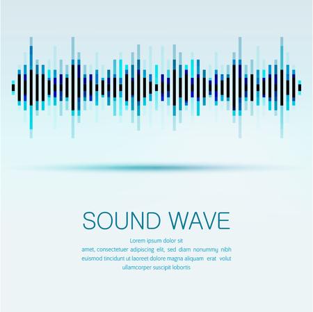 Abstrakter digitaler Entzerrer, kreativer Entwurf Schallwellenmusterelementhintergrund.