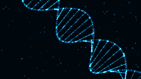 concepto de ciencia de tecnología abstracta, estructura de código de ADN con brillo. Fondo del concepto de ciencia. Nano tecnología. Foto de archivo