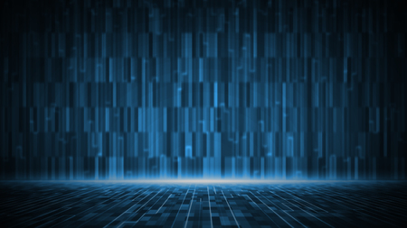 Abstract digital matrix background. Futuristic big data information technology concept. Motion graphic for abstract data center.