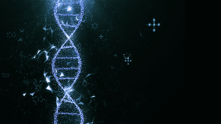 abstract technology science concept, DNA code structure with glow. Science concept background. Nano technology. Stock fotó