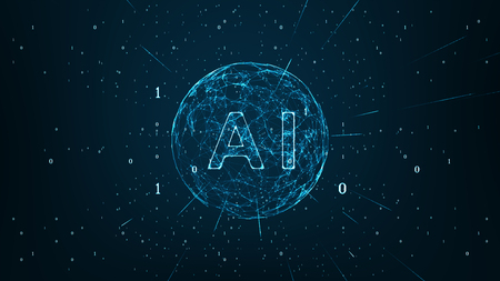 Artificial Intelligence and Machine Learning Concept. IoT(Internet of Things). ICT(Information Communication Technology).Neural networks and another modern technologies,Technology sci-fi. Banco de Imagens
