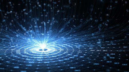 Internet of Things (IOT) Concept.Big Data Cloud Computing netwerk van fysieke apparaten met beveiligde netwerkconnectiviteit. Stockfoto