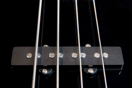 strained: black clear jazz rock bass guitar pickup with strained strings