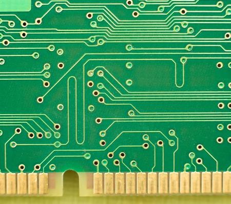 Makro des grünen Leiterplatte mit externen Kontakte